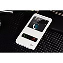hesapli Küpeler-Pouzdro Uyumluluk Samsung Galaxy Samsung Galaxy Note Satandlı / Pencereli Tam Kaplama Kılıf Solid PU Deri için Note 4 / Note 3