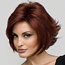 hesapli Küpeler-Sentetik Peruklar Düz / Bukle Katmanlı Saç Kesimi Sentetik Saç 8 inç Doğal saç çizgisi Kırmızı Peruk Kadın's Şort Bonesiz Kırmızı Şarap
