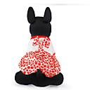 رخيصةأون أغطية أيفون-قط كلب ملابس الكلاب كوفي أحمر قطن كوستيوم من أجل ربيع & الصيف