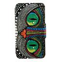 hesapli iPhone Kılıfları-Pouzdro Uyumluluk Samsung Galaxy Samsung Galaxy Kılıf Satandlı Flip Tam Kaplama Kılıf Baykuş PU Deri için S6 edge plus S6 edge S6 S5 Mini