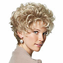 cheap Makeup & Nail Care-beautiful blonde fashion style short curly hair wig