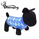 preiswerte Bekleidung & Accessoires für Hunde-Katze / Hund T-shirt Hundekleidung Plaid / Karomuster Rot / Blau Baumwolle Kostüm Für Haustiere