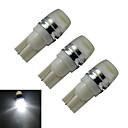 abordables Bombillas LED para Coche-3pcs 90lm T10 Luces Decorativas 1 Cuentas LED LED de Alta Potencia Blanco Fresco 12V