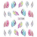 preiswerte Make-up & Nagelpflege-1 pcs 3D Nails Nagelaufkleber Wassertransfer Aufkleber Nagel Kunst Maniküre Pediküre lieblich Zeichentrick / Modisch Alltag / 3D Nagel Sticker