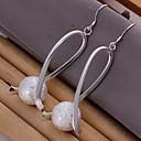 preiswerte Armbänder-Damen Tropfen-Ohrringe - Sterling Silber Silber Für Hochzeit / Party / Alltag