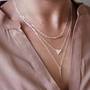 hesapli Kolyeler-Kadın's Açıklama Kolye / katmanlı Kolyeler - Avrupa, minimalist tarzı Gümüş, Altın Kolyeler Mücevher 1pc Uyumluluk Düğün, Parti, Günlük