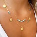 hesapli Küpeler-Kadın's Açıklama Kolye - Moda Altın Kolyeler Mücevher Uyumluluk Düğün, Parti, Günlük