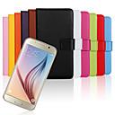 Недорогие Офисные принадлежности-Кейс для Назначение SSamsung Galaxy Кейс для  Samsung Galaxy Бумажник для карт Кошелек со стендом Флип Чехол Сплошной цвет Настоящая кожа