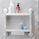 baratos Toalhas & Roupões-Prateleira de Banheiro Alta qualidade Moderna Plástico 1 Pça. - Banho do hotel Montagem de Parede