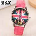 preiswerte Damenuhren-Damen Armbanduhr Quartz Schlussverkauf Leder Band Analog Retro Modisch Schwarz / Weiß / Blau - Rot Grün Blau