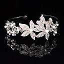 hesapli Takı Setleri-Kadın Çiçekçi Kız Saf Gümüş alaşım Başlık-Düğün Özel Anlar Saç Bantları Çiçekler Wianki 1 Parça
