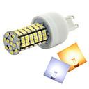 Недорогие LED лампы накаливания-500-600 lm G9 LED лампы типа Корн T 144 светодиоды SMD 3528 Тёплый белый Холодный белый AC 220-240V