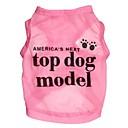 رخيصةأون ملابس وإكسسوارات الكلاب-قط كلب T-skjorte ملابس الكلاب مطبوعة بأحرف وأرقام وردي أزرق تيريليني كوستيوم من أجل الصيف الكوسبلاي