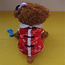 tanie Ubranka i akcesoria dla psów-Psy T-shirt Ubrania dla psów Kwiatowy / Roślinny Czarny / Czerwony Biały / Czerwony Terylen Bawełna Mieszane materiały Kostium Na Zima