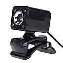 voordelige Webcams-4LED usb 2.0 12 m HD-camera webcam met microfoon clip-on nachtzicht 360 graden voor desktop skype computer pc laptop