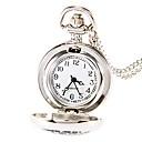 Buy Fashion Round Shape Quartz Childhood Memories Long Necklace Pocket Watch Silver Jewelry (Silver)(1Pc)