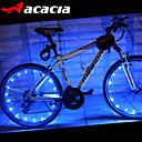 hesapli Bisiklet Işıkları-Bisiklet Işıkları / vana kapağı yanıp sönen ışıklar / tekerlek ışıkları LED Bisiklet Işıkları - Bisiklet Renk Değiştiren hücreli piller 400 lm USB / Batarya Bisiklete biniciliği - Acacia / IPX-4