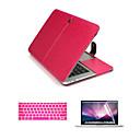 tanie Etui, torby i pokrowce do MacBooka-MacBook Futerał Jendolity kolor Skóra PU na MacBook Air 13 cali