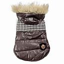 ieftine Cutii Pescuit-Câine Haine Hanorace cu Glugă Îmbrăcăminte Câini Negru Maro Bumbac Costume Pentru Iarnă