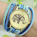 preiswerte Halsketten-Damen Armband-Uhr Imitation Diamant Leder Band Charme / Modisch Schwarz / Weiß / Blau / Ein Jahr / Tianqiu 377