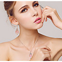 cheap Makeup & Nail Care-Crystal Jewelry Set Cubic Zirconia, Rose Gold Plated Ladies, Party, Fashion Include Pink For Wedding Party Special Occasion Anniversary Birthday Engagement / Earrings / Necklace