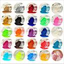 preiswerte Make-up & Nagelpflege-lieblich / 24 Farben Nagel Kunst Maniküre Pediküre Acryl Abstrakt / Klassisch / Hochzeit Alltag