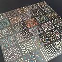 hesapli Makyaj ve Tırnak Bakımı-30 pcs 3D Tırnak Çıkartması tırnak sanatı Manikür pedikür Çiçek / Soyut / Moda Günlük / 3D Çivi Çıkartmaları