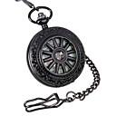 hesapli Erkek Saatleri-Erkek Cep kol saati mekanik izle Mekanik manual-hareketli 30 m Derin Oyma Alaşım Bant Analog Lüks Siyah