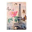 abordables Accesorios para Álbums de Fotos-Funda Para iPad Air Soporte de Coche con Soporte Diseños Funda de Cuerpo Entero Torre Eiffel Cuero de PU para iPad Air