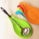 cheap Kitchen Utensils & Gadgets-Silicone Spoon Insulation Mat Placemat Coaster Tray Cooking Tools