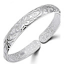 cheap Bracelets-Women's Bangles - Sterling Silver Flower Bracelet Silver For Daily / Casual / Sports