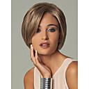 preiswerte Make-up & Nagelpflege-Synthetische Perücken Glatt Mit Pony Synthetische Haare Perücke Damen Kurz Kappenlos Blondine