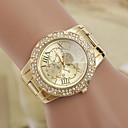Χαμηλού Κόστους Δαχτυλίδια-yoonheel Γυναικεία Ρολόι Καρπού σχεδιαστές / απομίμηση διαμαντιών / Ελβετός Μέταλλο Μπάντα Φυλαχτό / Μοντέρνα / Προσομοιωμένο ρολόι Diamond Χρυσό / Ενας χρόνος / SODA AG4