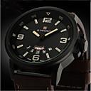 Недорогие Мужские часы-Муж. Армейские часы Наручные часы Кварцевый Японский кварц Кожа Группа Цифровой Черный Коричневый Красный / Нержавеющая сталь