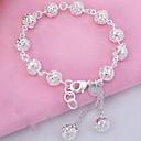 ieftine Brățări-Pentru femei Brățări Bangle - Plastic Brățări Argintiu Pentru Cadouri de Crăciun Zilnic Casual