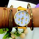 preiswerte Armbänder-Damen Armband-Uhr Quartz Chronograph PU Band Analog Charme Modisch Schwarz / Weiß / Braun - Gelb Braun Grün Ein Jahr Batterielebensdauer / KC 377A