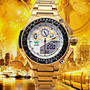 cheap Men's Watches-Men's Sport Watch / Military Watch / Digital Watch Japanese Alarm / Calendar / date / day / Water Resistant / Water Proof Stainless Steel / Alloy Band Luxury / Casual / Fashion Gold / Dual Time Zones