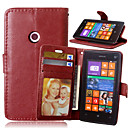 cheap Cases / Covers for Nokia-Case For Nokia Lumia 625 / Nokia Lumia 520 / Nokia Lumia 630 Nokia Case Wallet / Card Holder / with Stand Full Body Cases Solid Colored Hard PU Leather for Nokia Lumia 640 XL / Nokia Lumia 535