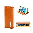 ieftine Cabluri Ethernet-Maska Pentru iPhone 5 / Apple iPhone 8 Plus / iPhone 8 / iPhone SE / 5s Portofel / Titluar Card / Cu Stand Carcasă Telefon Mată Greu Piele autentică