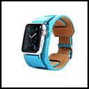 저렴한 갤럭시 S 시리즈 케이스 / 커버-시계 밴드 용 Apple Watch Series 4/3/2/1 Apple 클래식 버클 천연 가죽 손목 스트랩