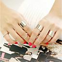 ieftine Inele-Pentru femei Seturi de bijuterii Aliaj Neobijnuit Design Unic Inele la Modă Bijuterii Negru / Argintiu / Auriu Pentru Petrecere Zilnic Casual Ajustabil