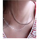 cheap Necklaces-Women's Chain Necklace - Silver Plated Silver Necklace Jewelry For Wedding, Party, Daily