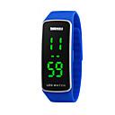 hesapli Vücut Takıları-Dijital Spor Saat Takvim / Havalı Silikon Bant Moda Siyah / Mavi / Kırmızı / Mor