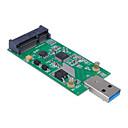 hesapli USB Kabloları-durumda olmadan usb 3.0 harici SSD pcba conveter bağdaştırıcı kartına cwxuan® Mini PCI-e mSATA