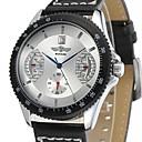 ieftine Ceasuri Bărbați-Bărbați ceas mecanic Japoneză Mecanism manual Piele Negru 30 m Ceas Casual Analog Lux - Alb Negru Rosu Un an Durată de Viaţă Baterie / Oțel inoxidabil