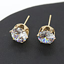 cheap Jewelry Sets-Women's Crystal Stud Earrings - Crystal Silver / Golden For Wedding / Party / Daily