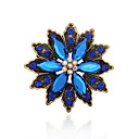 cheap Brooches-Women's Brooches - Gemstone, Rhinestone Vintage, European, Fashion Brooch Coffee / Green / Blue For Wedding / Party / Special Occasion