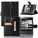 hesapli Mac Stickerlar-Pouzdro Uyumluluk Blackberry BlackBerry Kılıf Kart Tutucu / Satandlı / Flip Tam Kaplama Kılıf Solid Sert PU Deri için