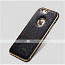 preiswerte iPhone Hüllen-spezielle Design Metallstoßrahmen aus echtem Leder hintere Abdeckung für iphone 6 plus (verschiedene Farben)