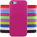 cheap iPhone Cases-Case For iPhone 5 Apple iPhone 5 Case Shockproof Back Cover Solid Colored Soft Silicone for iPhone SE / 5s iPhone 5